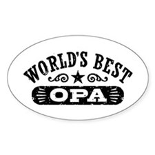 World's Best Opa Decal
