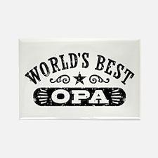 World's Best Opa Rectangle Magnet