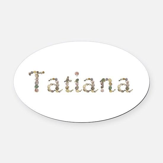 Tatiana Seashells Oval Car Magnet