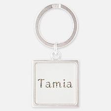 Tamia Seashells Square Keychain