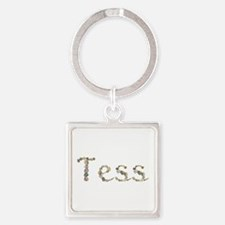 Tess Seashells Square Keychain