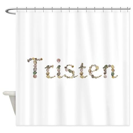 Tristen Seashells Shower Curtain By Namestuff Shells Sz