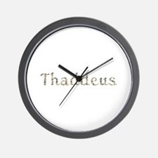 Thaddeus Seashells Wall Clock