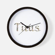 Titus Seashells Wall Clock