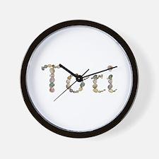 Tori Seashells Wall Clock