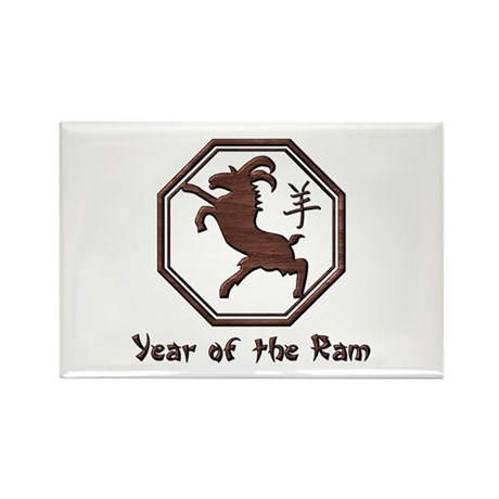 Year of the Ram Rectangle Magnet (10 pack)