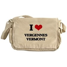 I love Vergennes Vermont Messenger Bag