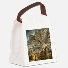 Stormy Sunset Trees Canvas Lunch Bag
