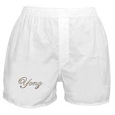 Gold Yong Boxer Shorts