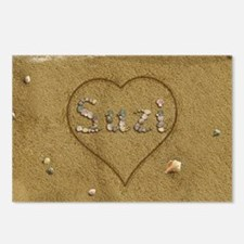 Suzi Beach Love Postcards (Package of 8)
