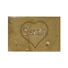 Suzi Beach Love Rectangle Magnet