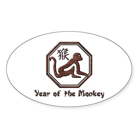 Year of the Monkey Oval Sticker