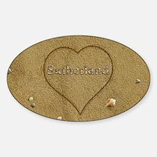 Sutherland Beach Love Sticker (Oval)