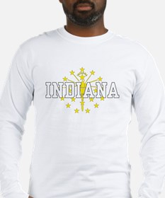 Indiana State Flag Long Sleeve T-Shirt