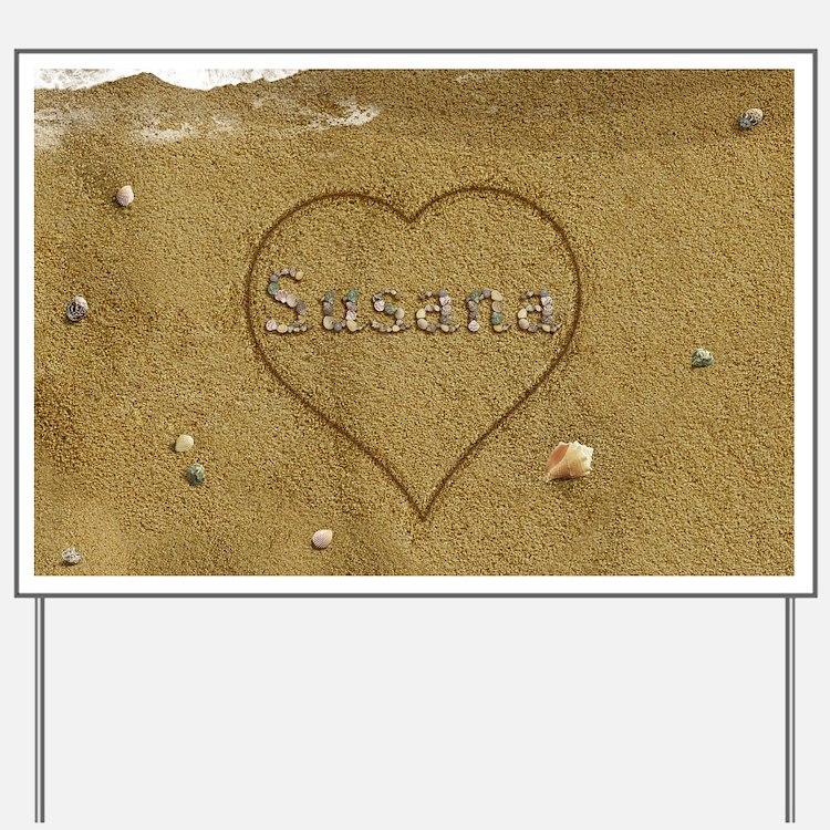 Susana Beach Love Yard Sign