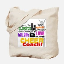 Cheer Coach Words Tote Bag