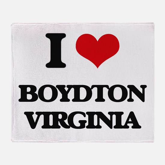I love Boydton Virginia Throw Blanket