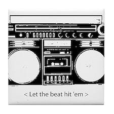 Cute Pop music Tile Coaster