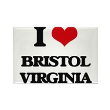 I love Bristol Virginia Magnets