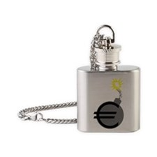 euro bomb Flask Necklace