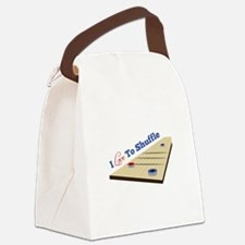 Love to Shuffle Canvas Lunch Bag