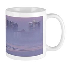 Foggy Beach Sunset Mug