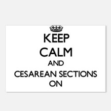 Keep Calm and Cesarean Se Postcards (Package of 8)