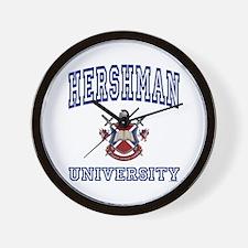 HERSHMAN University Wall Clock