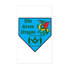 The Green Dragon Rectangle Decal