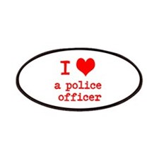 I Heart A Police Officer Patch