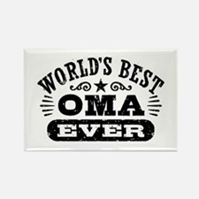 World's Best Oma Ever Rectangle Magnet