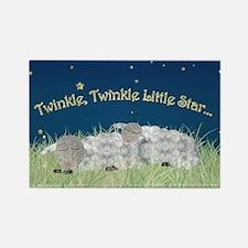 Twinkle Twinkle Little Star Sleeping Sheep Magnets