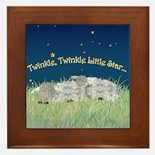 Twinkle Twinkle Little Star Sleeping Sheep Framed