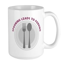 Spooning Leads to Forking - P Mug