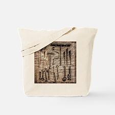 Vintage Farm Tools Tote Bag