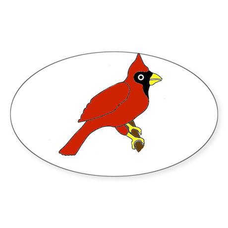 Cardinal Oval Sticker