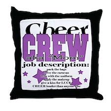 Cheer Crew aka Mom Throw Pillow