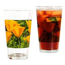 California Poppy Choir Drinking Glass