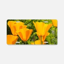 California Poppy Choir Aluminum License Plate