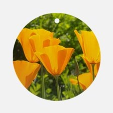 California Poppy Choir Ornament (Round)