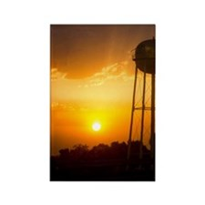 Water Tower Sunset Rectangle Magnet