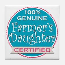 Cute Farmer girl Tile Coaster