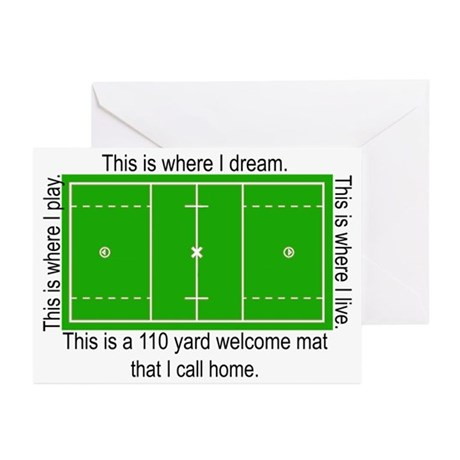 Lacrosse Dream Field Greeting Cards (Pk of 20)