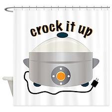 Crock it Up Shower Curtain