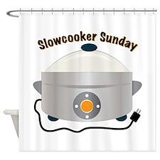 Slowcooker Sunday Shower Curtain