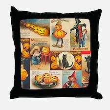 TLK013 Halloween Collage Throw Pillow