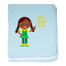 We Want You baby blanket