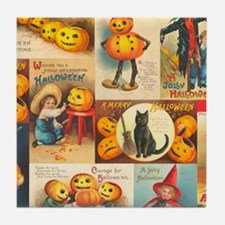 TLK013 Halloween Collage Tile Coaster
