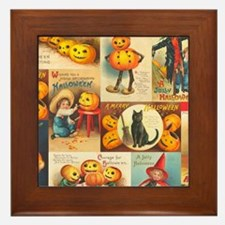 TLK013 Halloween Collage Framed Tile