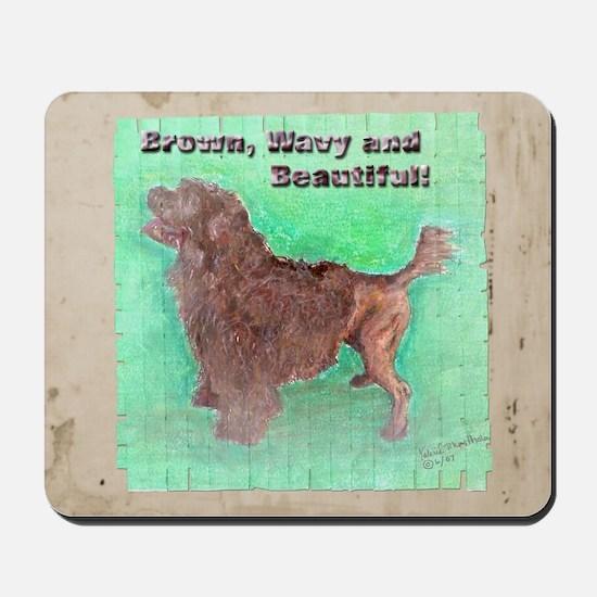 Portuguese Water Dog Brown, W Mousepad